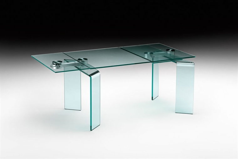 Tavoli Cristallo Allungabili Reflex.Metodo Interni Arredamenti Piacenza Tavolo Fiam Ray Plus